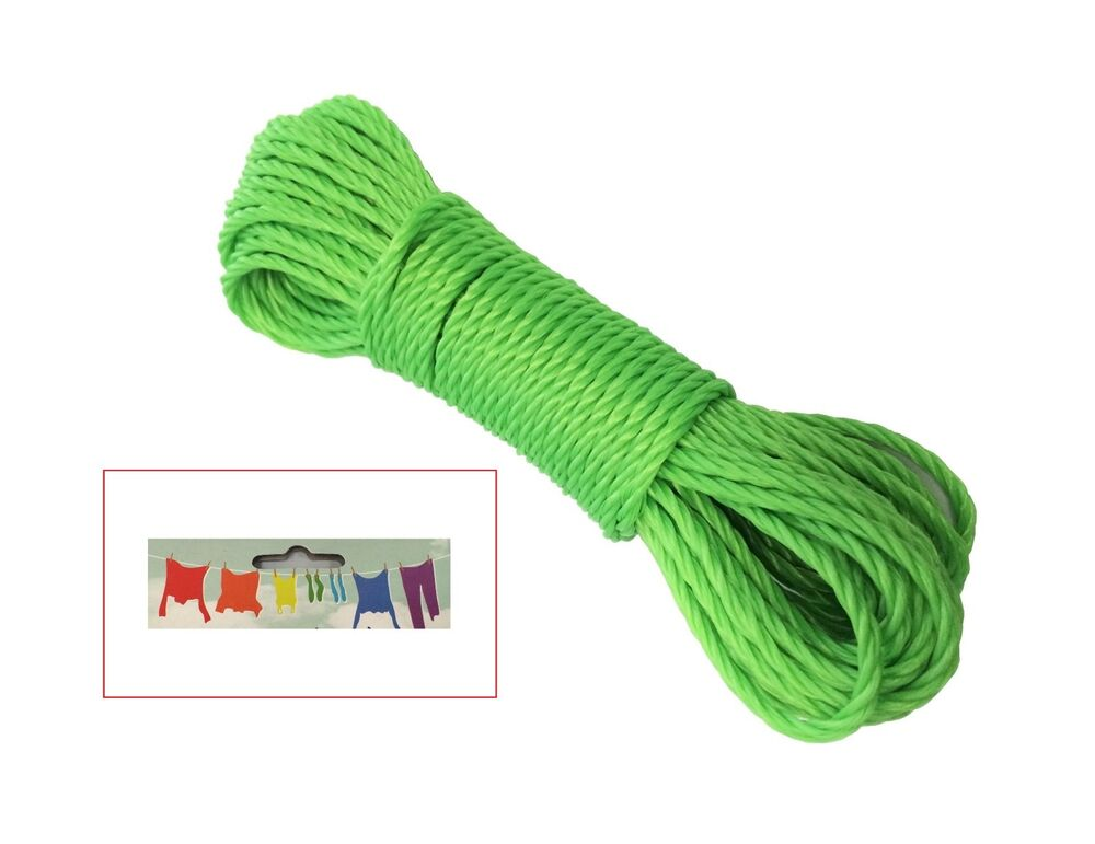 G 50ft Plastic Clothes Line Household Outdoor Dry Laundry