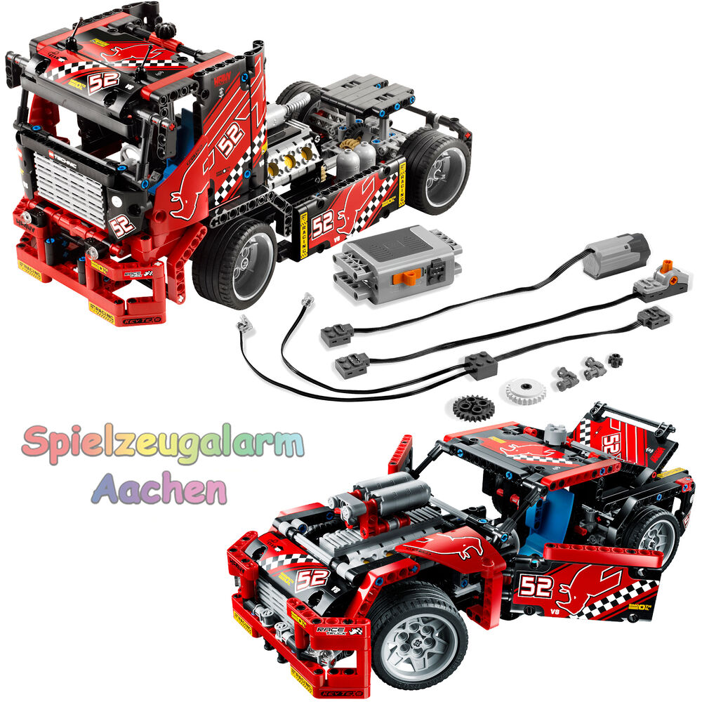 lego technic 42041 renn truck 8293 power functions race. Black Bedroom Furniture Sets. Home Design Ideas