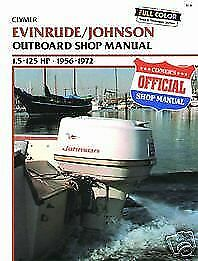 Johnson evinrude 1 5 125hp 1956 1972 outboard service for Outboard motor repair shop