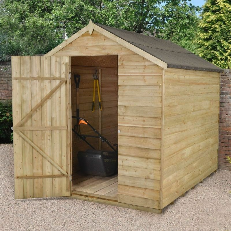 8x6 pressure treated windowless wooden apex garden shed 8ft x 6ft no windows new ebay - Garden sheds m x m ...