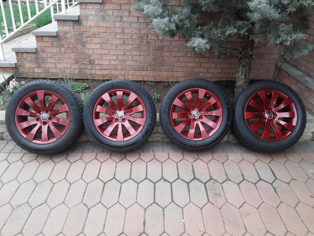 Oem Bmw 18 Quot Wheels Painted Bmw Vermillion Red Rfts Tps Red