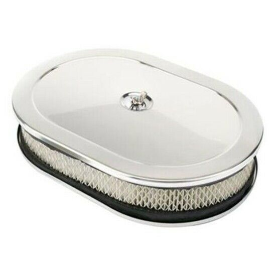 12 Round Air Cleaner : Speedway quot oval chrome air cleaner w filter