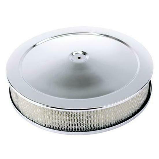 Custom Low Profile Air Cleaner : Speedway chrome plated performance air cleaner quot
