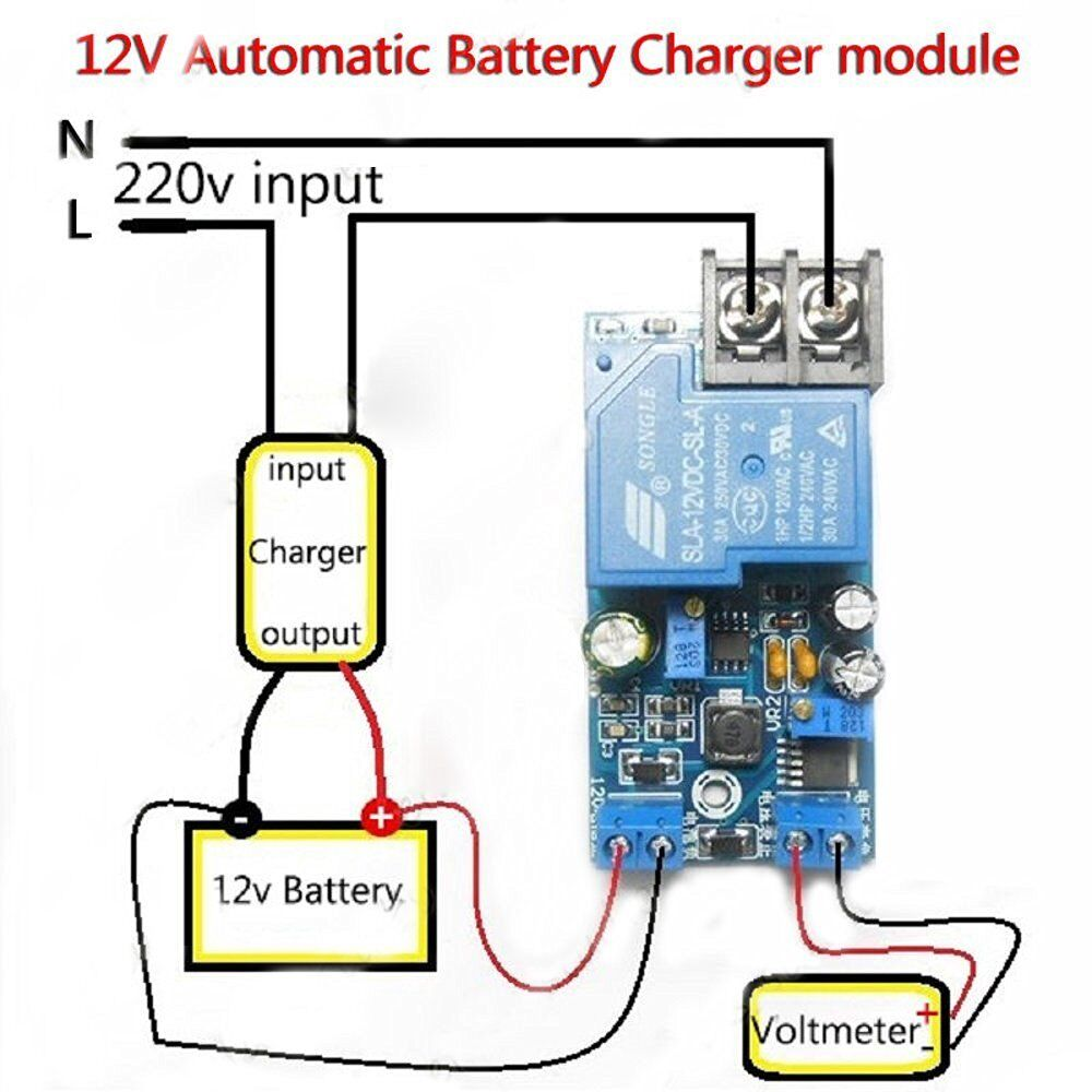 12v 30a automatic battery charging power supply control
