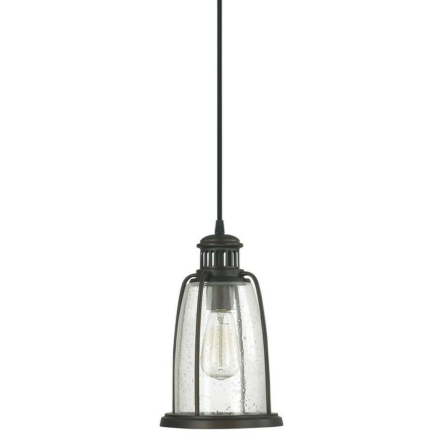 capital lighting pendant 1 light mini pendant bronze