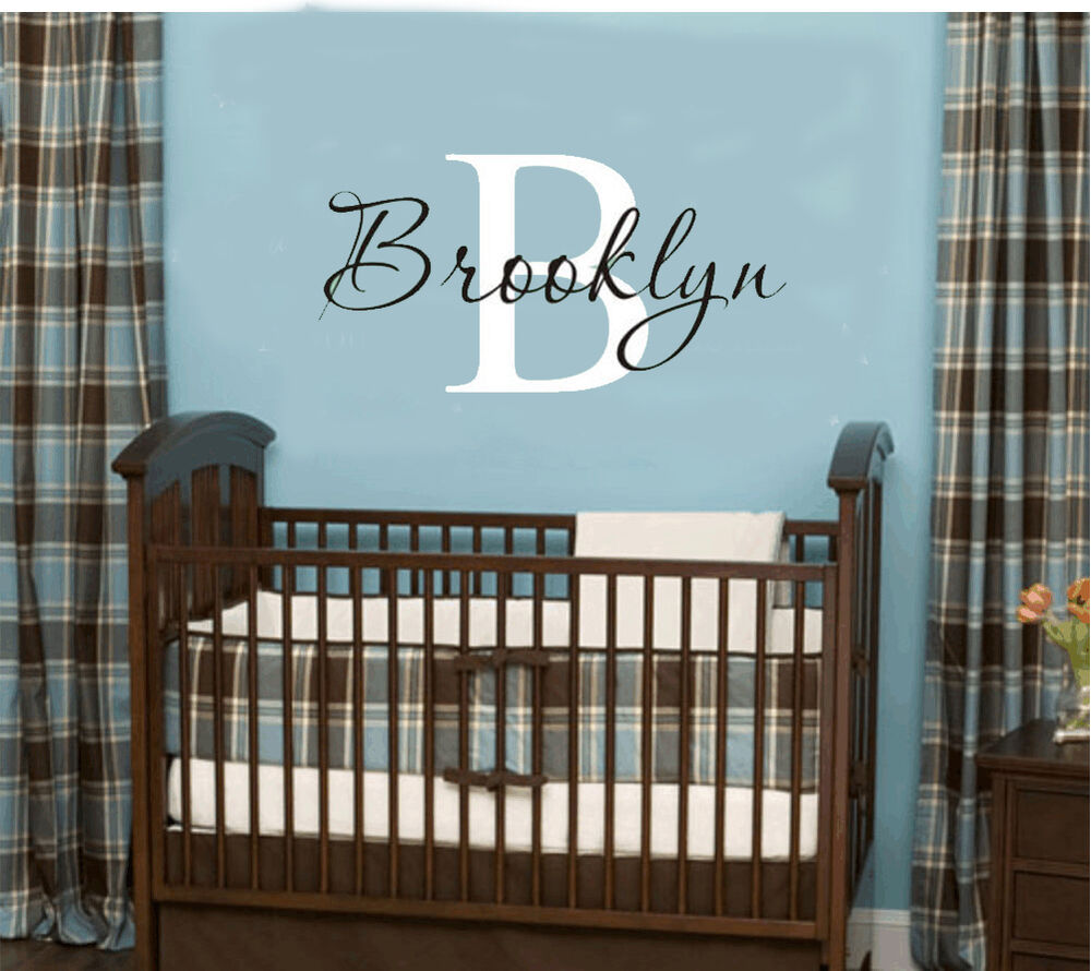 wall stickers custom baby name personal vinyl decal decor nursery kid