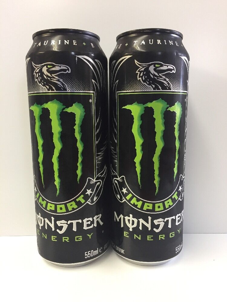 Monster Energy Drink Import 18.6oz Cans. Total 2 Cans Lot. Ships ...