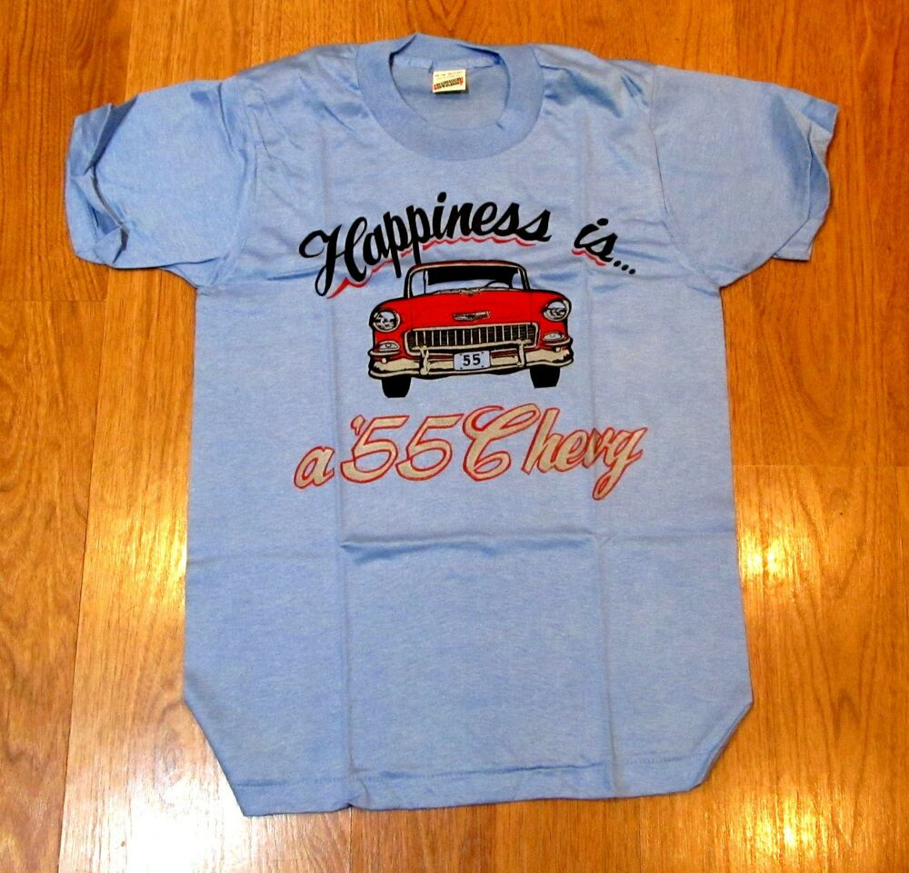 1955 Chevy Tee Shirt Happiness Is A 55 Chevy Childs Size