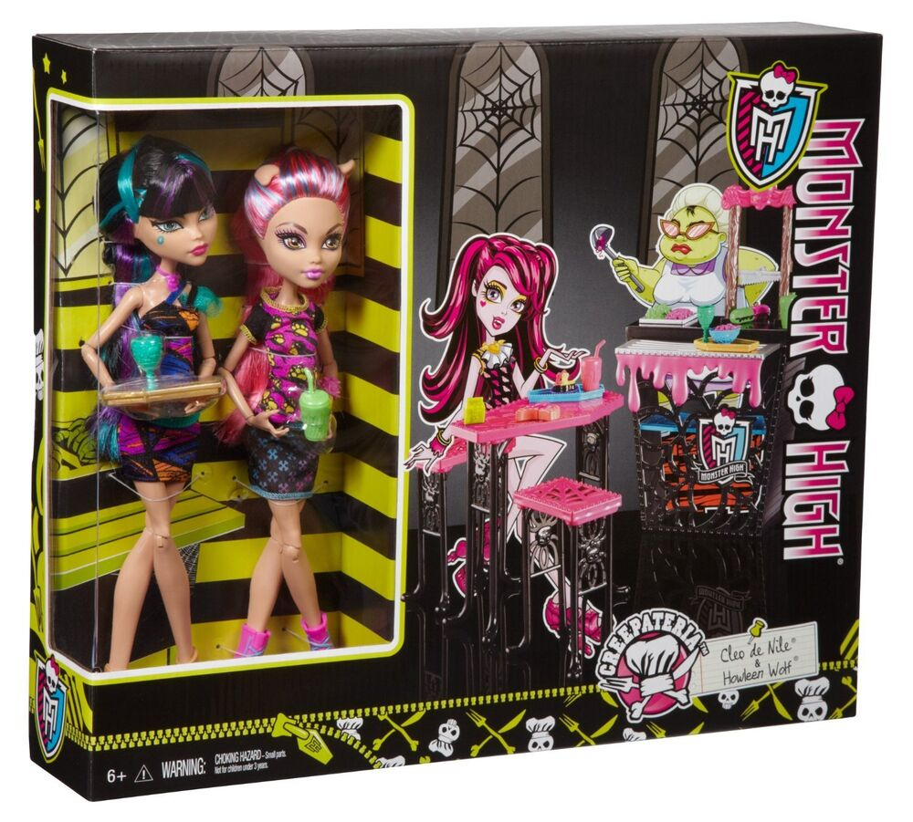 Monster High Ebay >> Monster High Creepteria with Cleo de Nile and Howleen Wolf 2 Doll Gift Set NIB | eBay