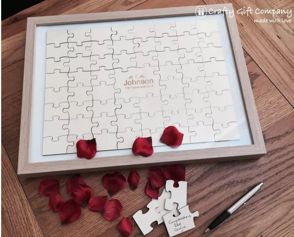 60 pcs wedding jigsaw personalised puzzle guest book