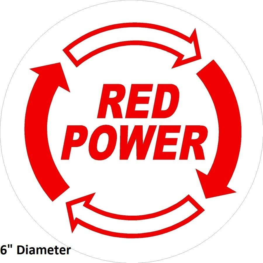 International Harvester Decals And Stickers : Ih red power sticker decal quot round case ag
