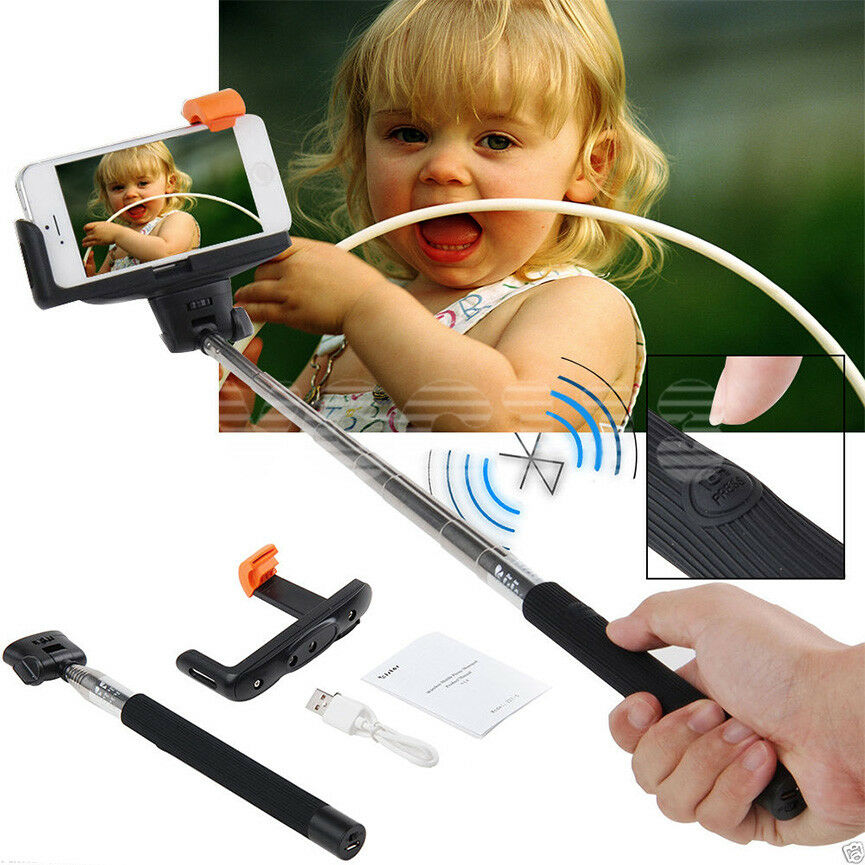 extendable handheld bluetooth selfie monopod for samsung galaxy s3 s4 s5 s6 edge ebay. Black Bedroom Furniture Sets. Home Design Ideas