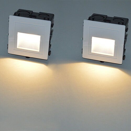 Porch Light Box: 2pcs 3W LED Outdoor Wall Recessed Light Fixture Waterproof