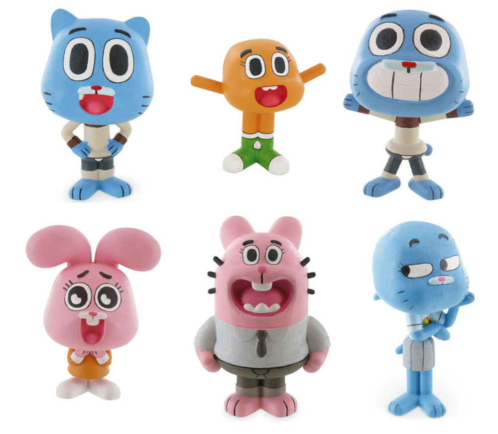 Bullyland Comansi The Amazing World Of Gumball Toy Figures