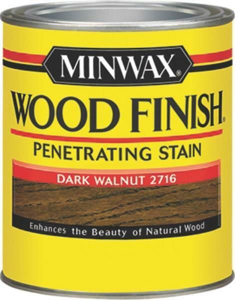 New minwax 22716 dark walnut interior oil based wood finish stain