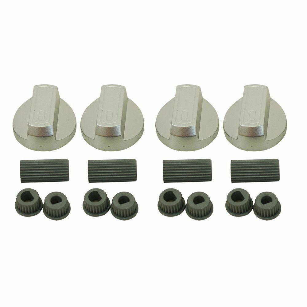 bosch chrome oven knob silver gas hob cooker universal switch knobs adaptors ebay. Black Bedroom Furniture Sets. Home Design Ideas