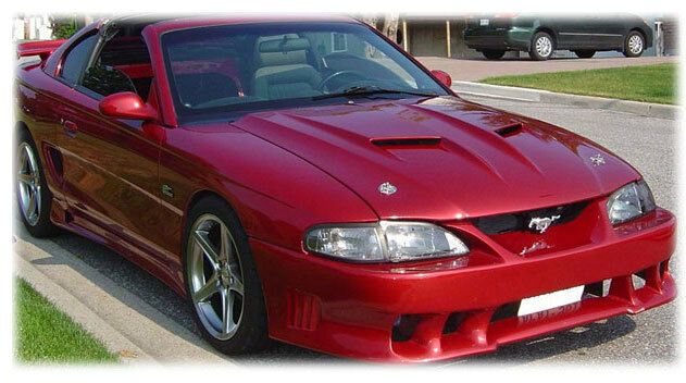 ford mustang 1994 98 saleen s2k style urethane front bumper body kit free mesh ebay. Black Bedroom Furniture Sets. Home Design Ideas