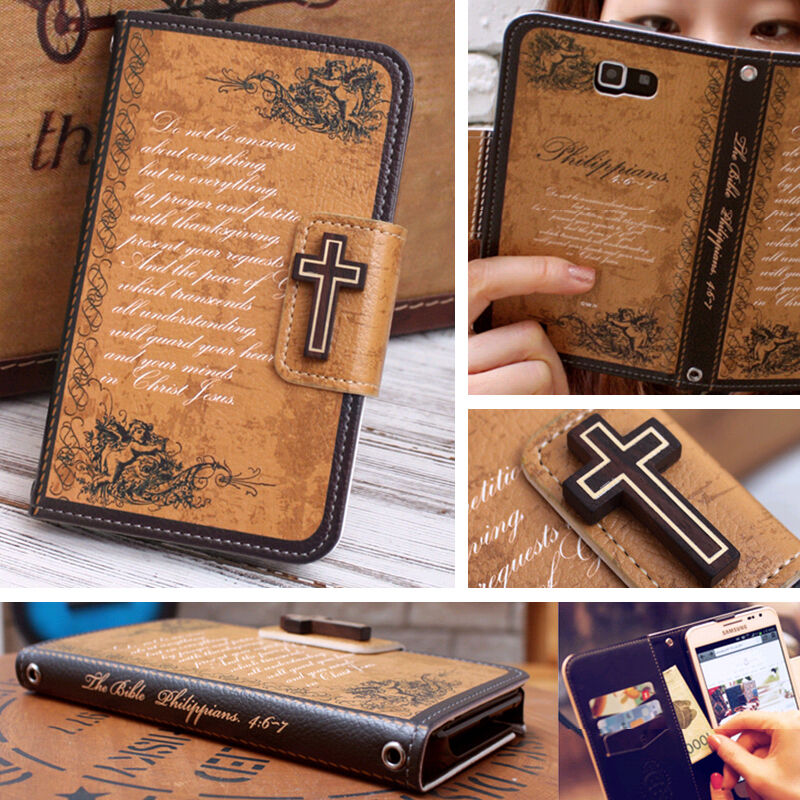 MrH PHILIPPIANS Christian Wallet Case for Galaxy S7 S6 Note5 4 iPhone7 ...
