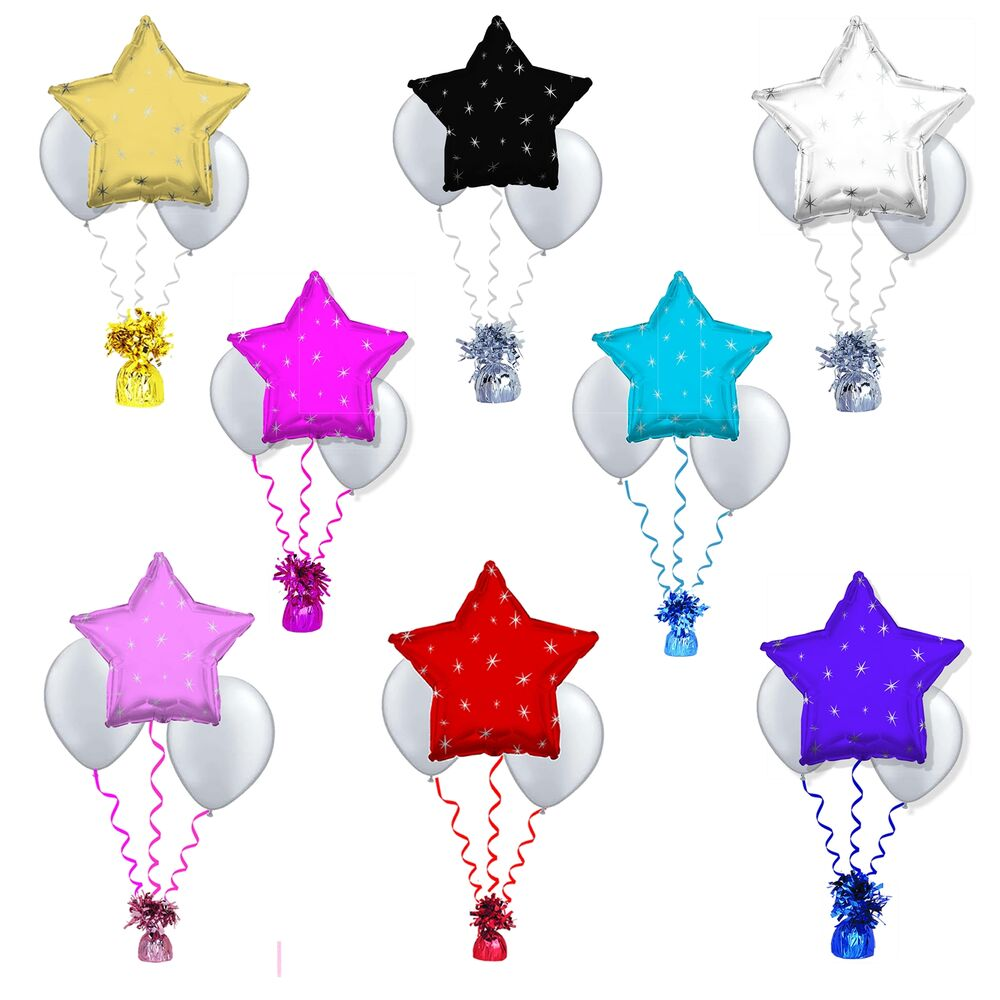 Star foil balloon cluster table decoration wedding for 7 star balloon decoration