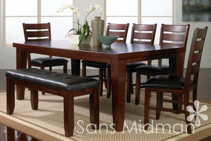 New barlow dining room furniture 9 piece set table w for 9 piece dining room set with leaf
