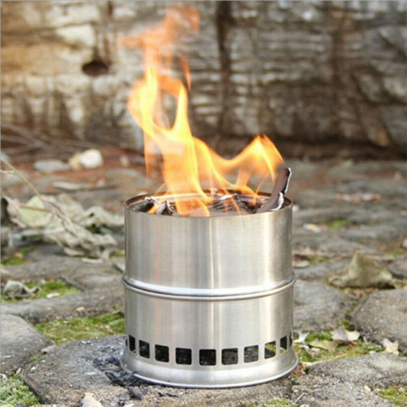 Wood Burning Stove Solo Camping Stove Outdoor Portable ...