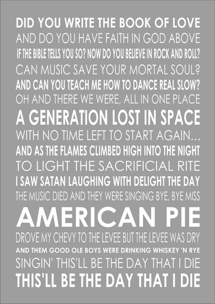 an analysis of don mcleans classic song american pie The meaning of american pie by don mclean bob dearborn's original analysis of don mclean's 1971 classic american pie american pie is quite a song.