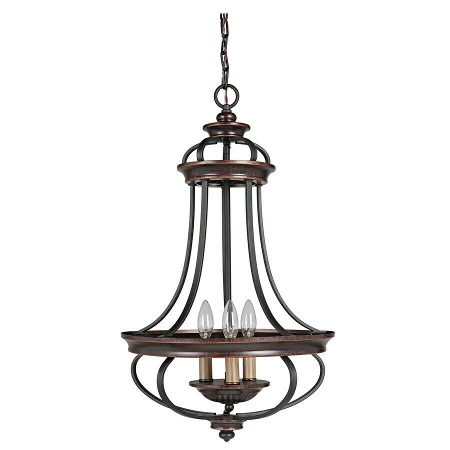 Bronze Foyer Chandelier : Jeremiah lighting stafford light foyer chandelier aged