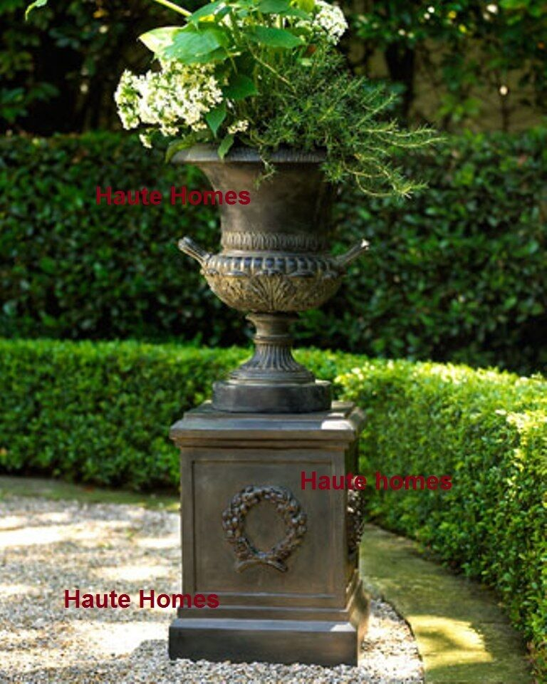 New Horchow Urn Ornate Planter Antique Black Horchow