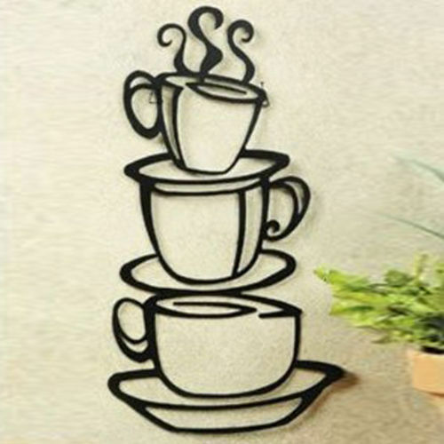 Removable Coffee House Cup Cafe Vinyl Wall Art Decal