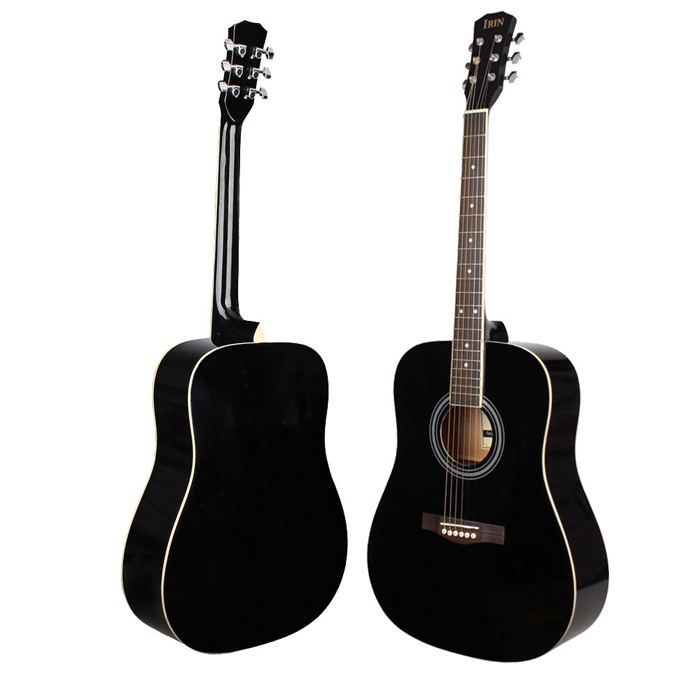 new 41 inch rosewood fingerboard adult size classical acoustic guitar black ebay. Black Bedroom Furniture Sets. Home Design Ideas