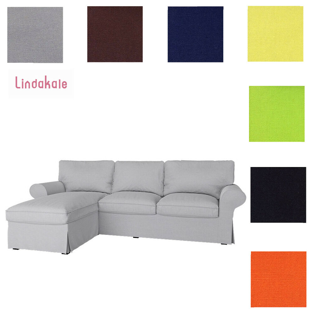 custom made cover fits ikea ektorp loveseat with chaise replace sofa cover ebay. Black Bedroom Furniture Sets. Home Design Ideas