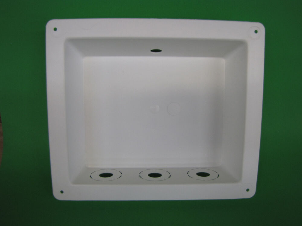 Mobile home parts washing machine outlet box plumbing ebay for Outlet mobile