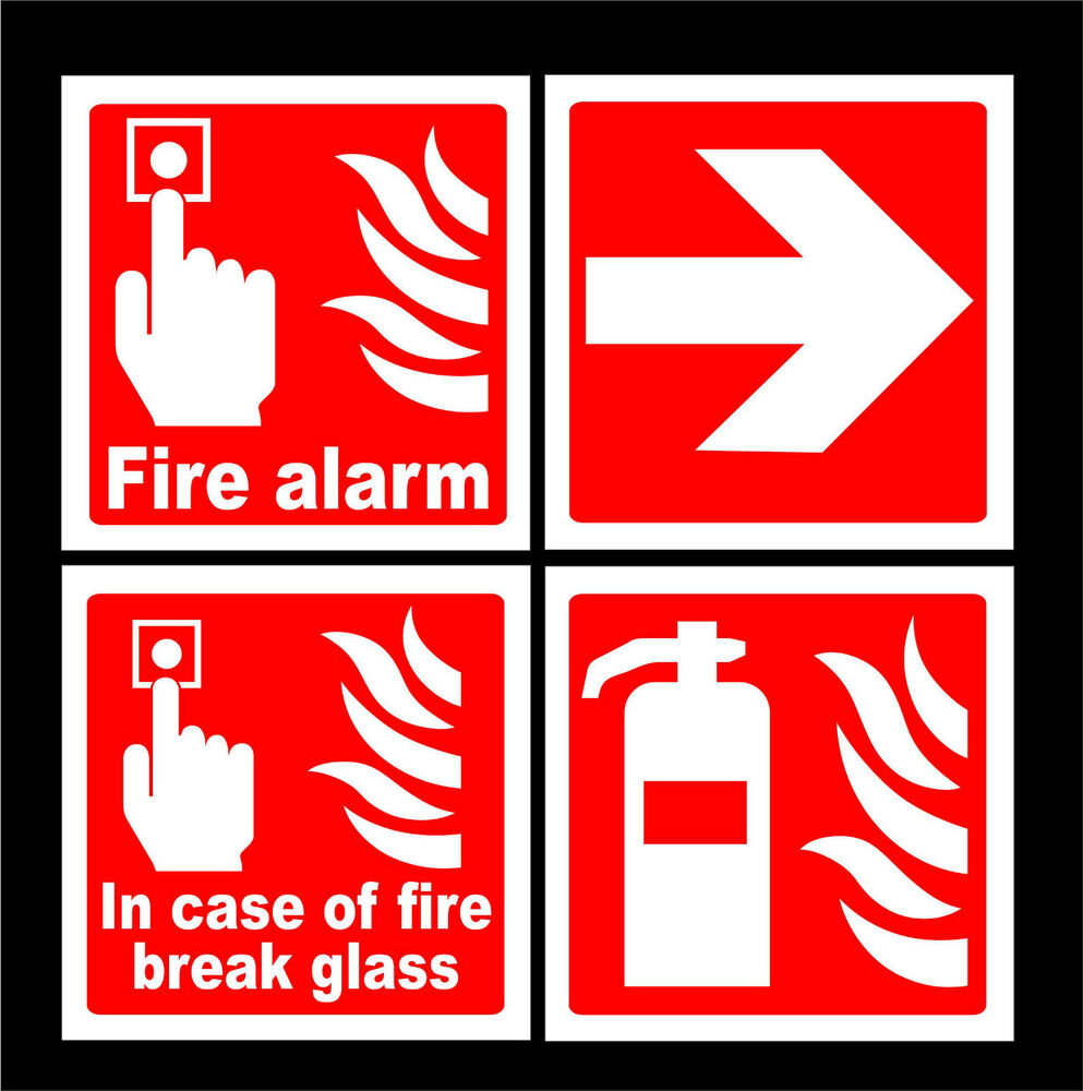 fire alarm call point signs stickers fire extinguisher