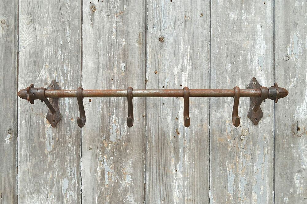 Cast Iron Antique Style Wall Hook Rack Kitchen Hooks Rack