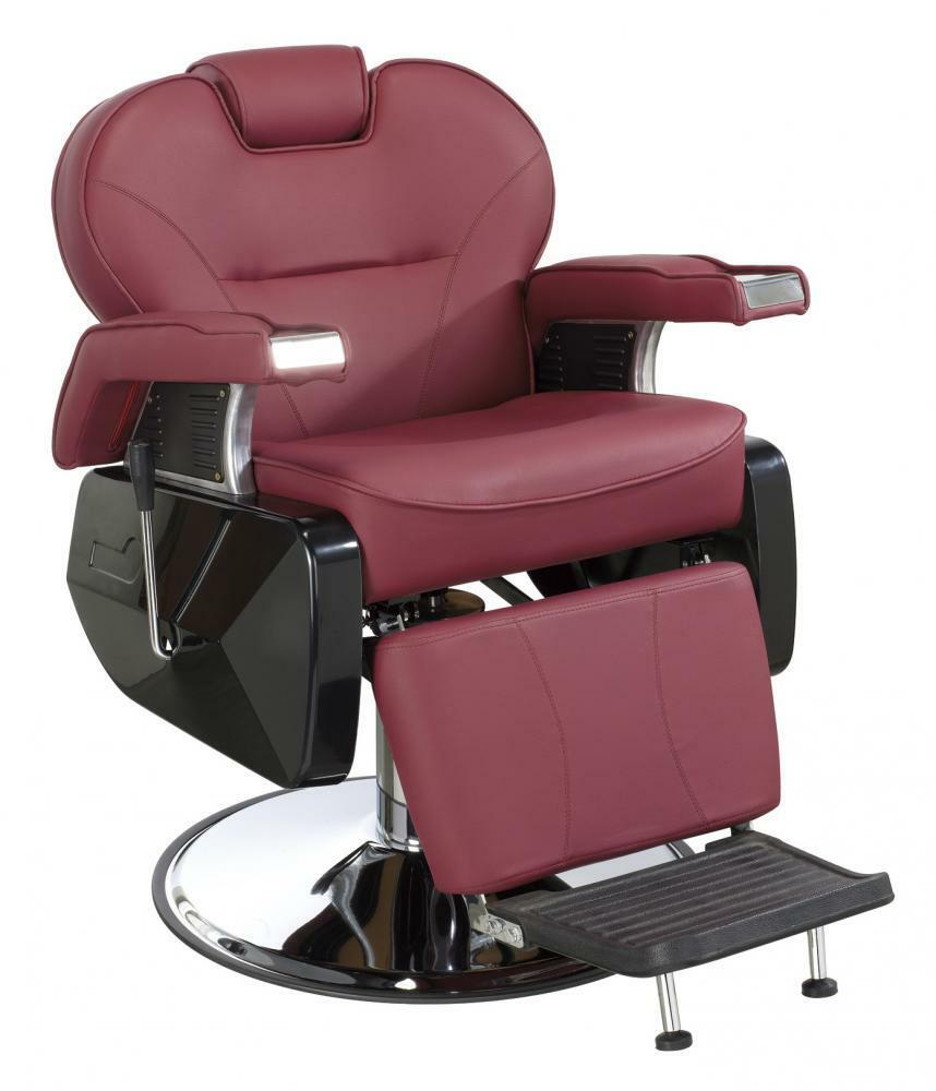 All purpose hydraulic recline barber chair salon beauty for Salon chairs