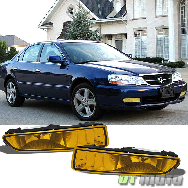 2002 2003 acura tl bumper driving yellow fog lights lamps. Black Bedroom Furniture Sets. Home Design Ideas
