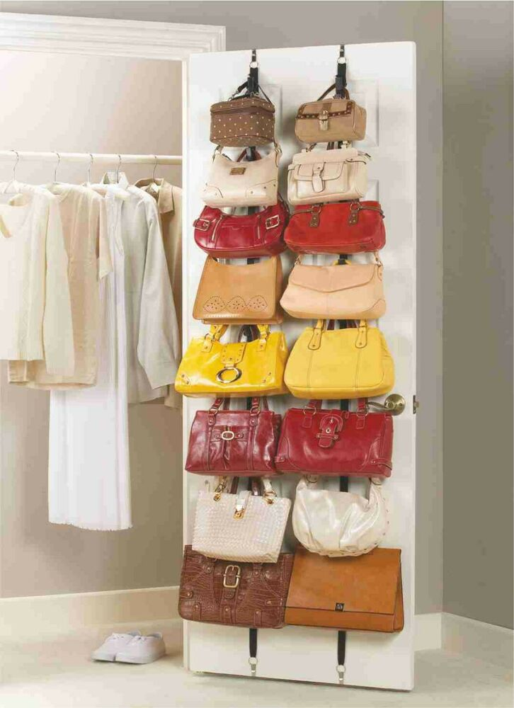 aktion handtaschengarderobe taschenhalter taschenorganizer garderobe taschen ebay. Black Bedroom Furniture Sets. Home Design Ideas