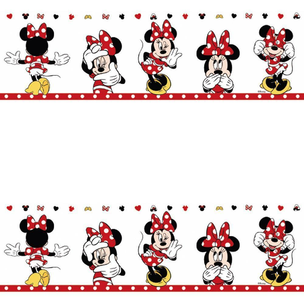 Details about GALERIE OFFICIAL DISNEY MINNIE MOUSE CHILDRENS NURSERY WALLPAPER BORDER MN3502-1