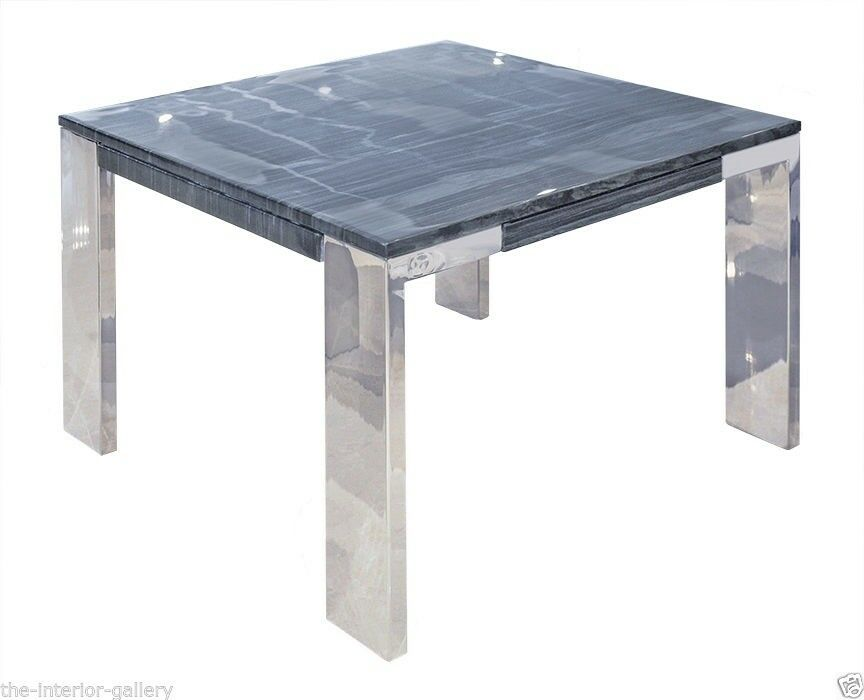 Modern Coffee Table Marble Top Coffee Table End Table Laterza Ii Grey Lines Ebay