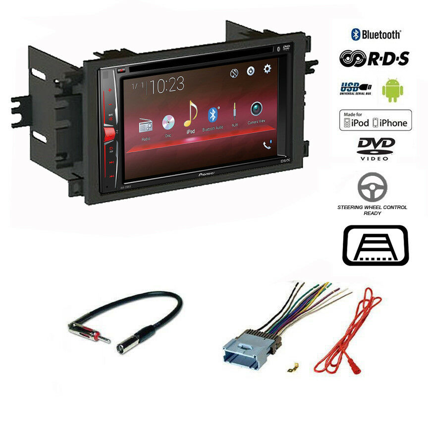 pioneer double din usb bluetooth radio cd player chevy car. Black Bedroom Furniture Sets. Home Design Ideas