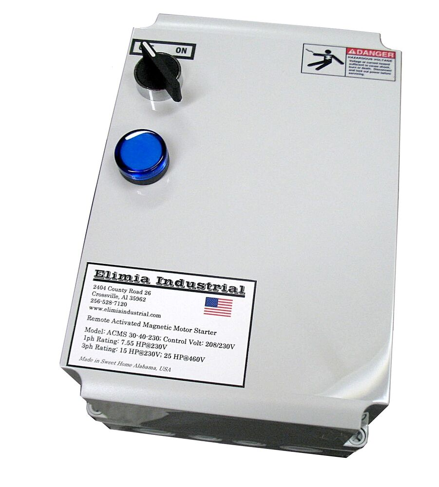 Elimia acms 30 40 230lc 7 5 hp 1 ph 230v air compressor for Air compressor motor starter