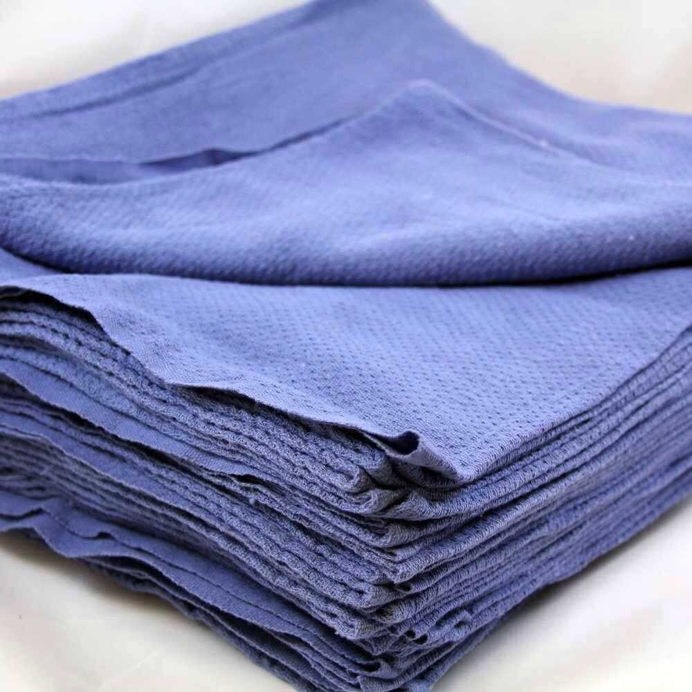 200 new blue glass cleaning shop towels blue huck surgical for Glass cleaning towels