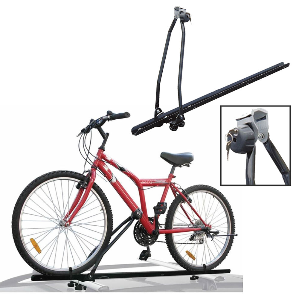 Universal Car Roof Bar Mounted Bicycle Carrier Upright