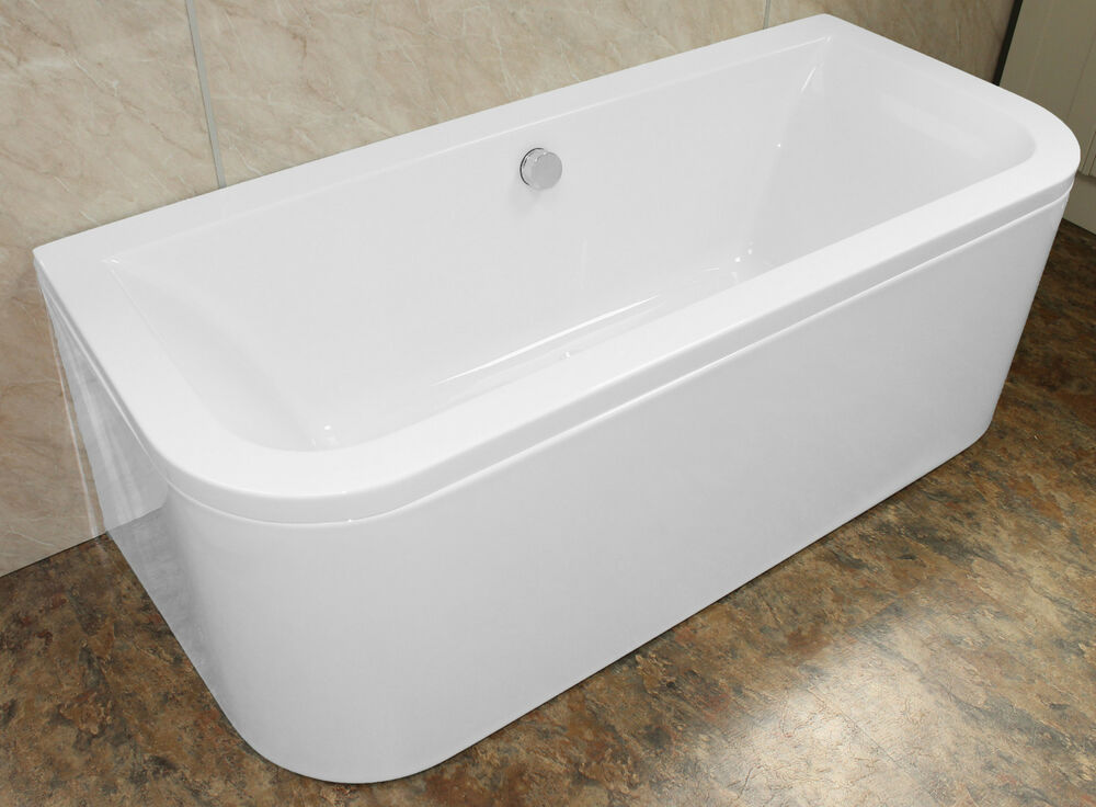 Bathroom Bath 1700 X 750mm Double Ended D Shape Back To
