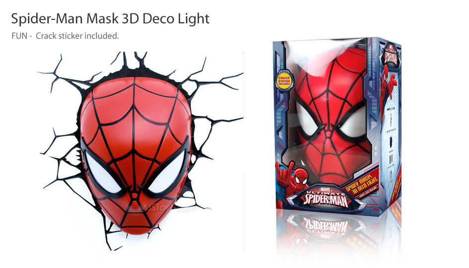 New Marvel Ultimate Spider Man Mask Face 3d Deco Wall Art