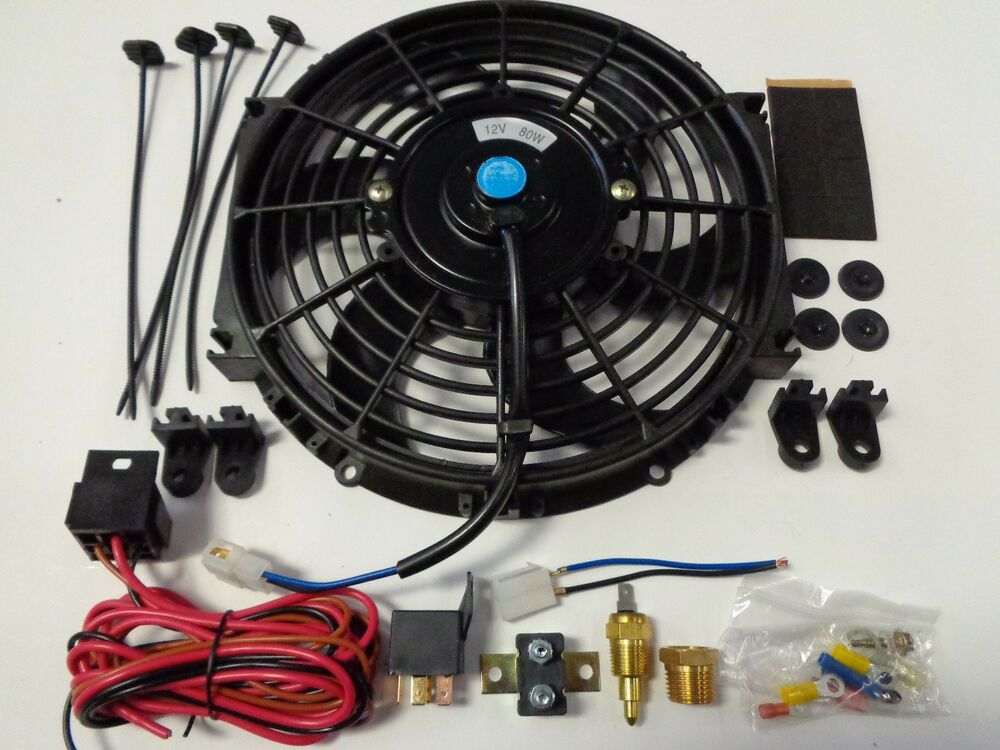 10 U0026quot  Electric Fan 1500 Cfm   Wiring Install Kit Complete