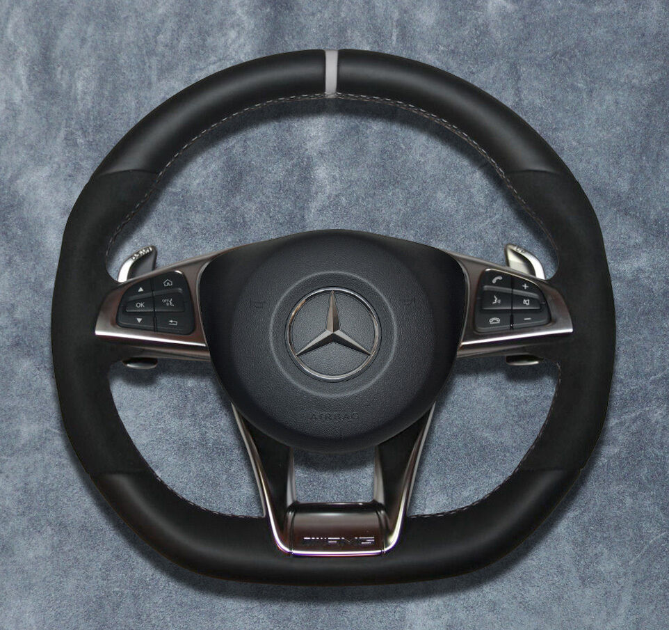 2015 mercedes benz amg steering wheel air ag alcantara for Mercedes benz wheel