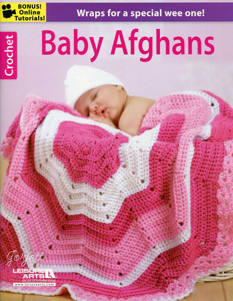 Baby Afghans ~ 8 Blankets Wraps & 2 Booties crochet patterns eBay