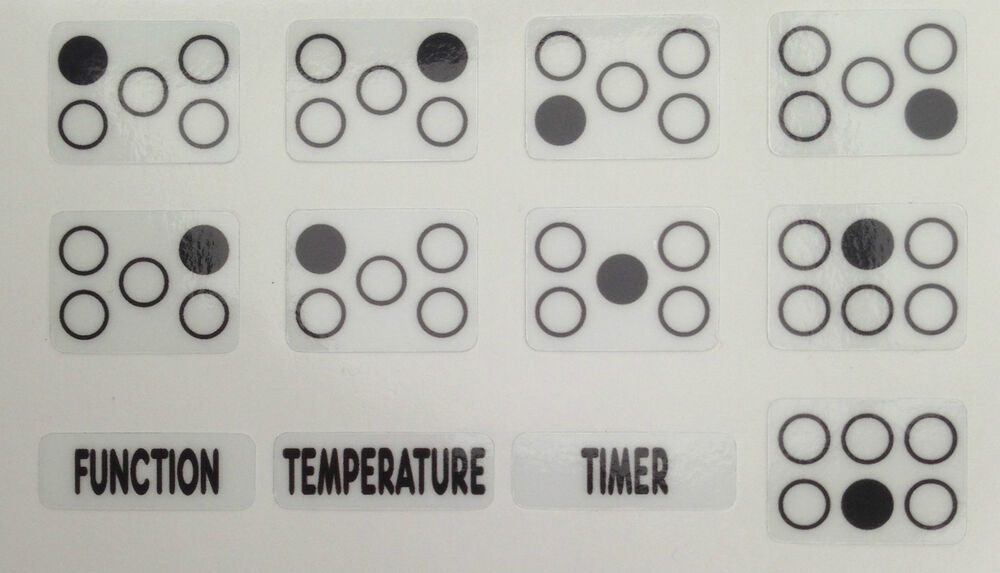 Cooker Oven Stove Range Hob Stickers Symbols Replacement