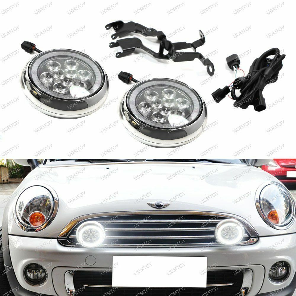 Mini Cooper Led Rally Driving Lights W Halo Style Daytime